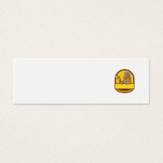 Desenho da crista do café do bebendo da cabra da cartão de visitas mini