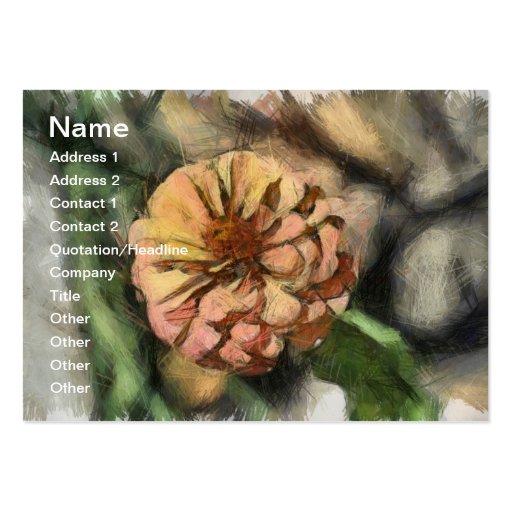 Desenho da flor cartoes de visita