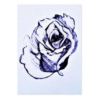 Desenho da flor cartão de visita grande