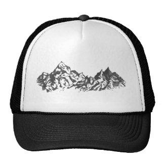 Desenho da montanha da tinta boné