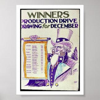 Desenho da movimentação da produção dos vencedores impressão