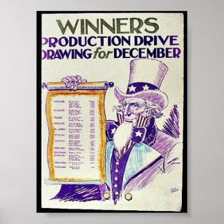 Desenho da movimentação da produção dos vencedores poster