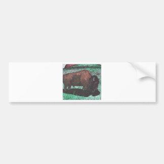 Desenho da tinta do búfalo adesivo para carro