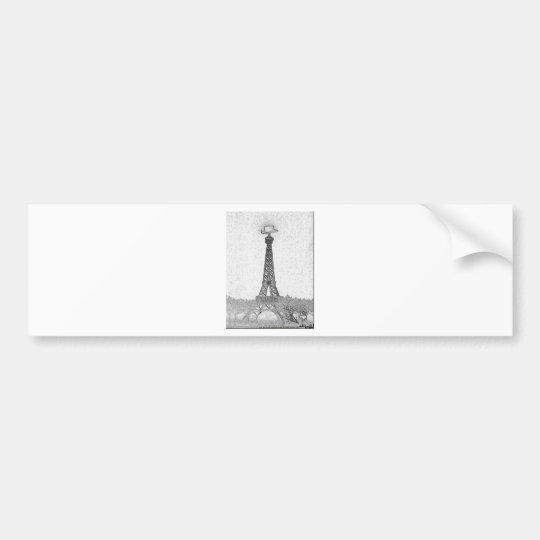Desenho da torre Eiffel de Paris, Texas Adesivo Para Carro