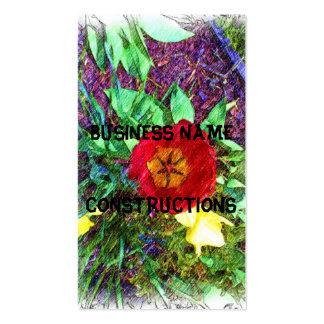 Desenho da tulipa da flor cartão de visita