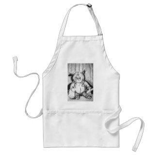 Desenho de carvão vegetal leitão do bicho de avental