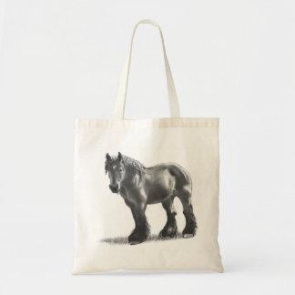 Desenho de lápis belga do cavalo de esboço: Realis Bolsa Para Compras