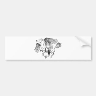 Desenho de Pegasus - cavalo de vôo com asas Adesivo Para Carro