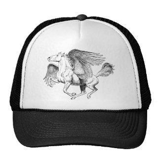 Desenho de Pegasus - cavalo de vôo com asas Boné