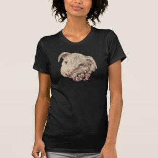 Desenho de Pitbull branco no t-shirt