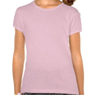 Desenho de Pitbull na camisa das meninas Camisetas
