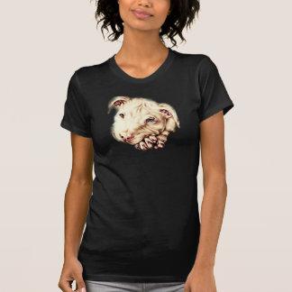 Desenho de Pitbull vibrante no t-shirt