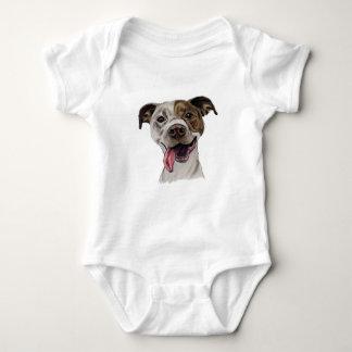 Desenho de sorriso do cão do pitbull body para bebê