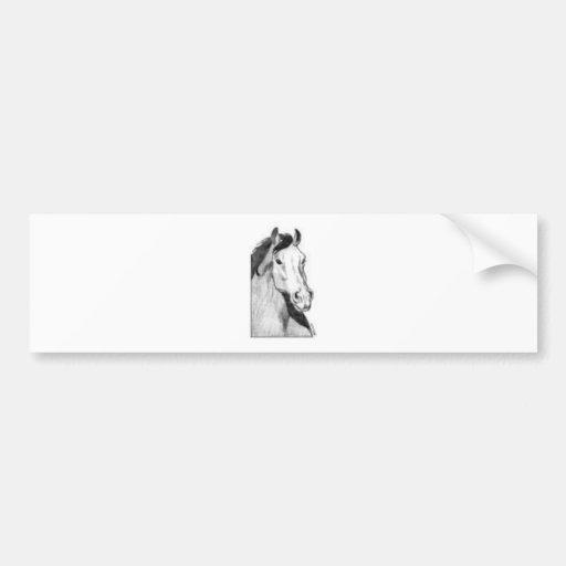desenho de um cavalo (preto e branco) adesivo