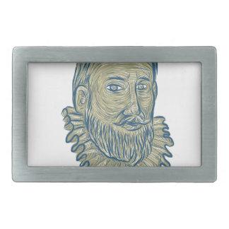 Desenho do busto do senhor Walter Raleigh