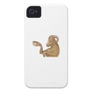 Desenho do café do bebendo da cabra da ram capinhas iPhone 4