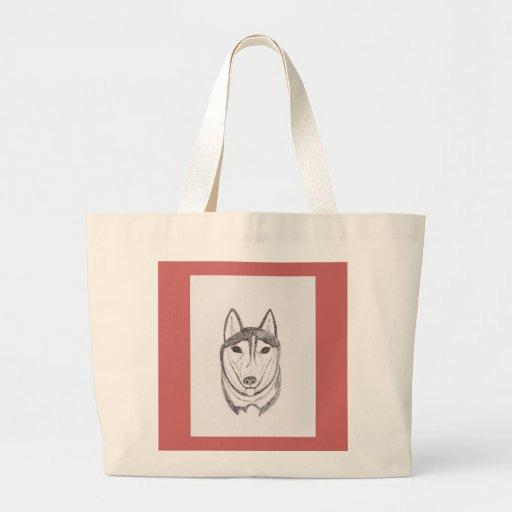 Desenho do cão bolsas de lona