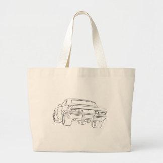Desenho do carro do músculo bolsas de lona