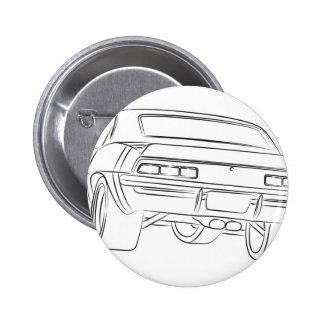Desenho do carro do músculo botons
