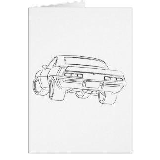 Desenho do carro do músculo cartões