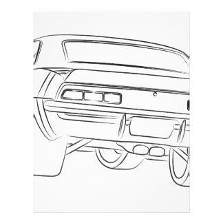 Desenho do carro do músculo modelo de papel de carta