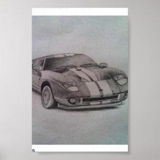 desenho do carro poster