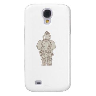 Desenho do cavaleiro do Mahout do elefante da Capas Personalizadas Samsung Galaxy S4