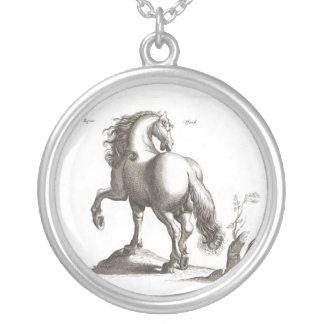 Desenho do cavalo do vintage pingente