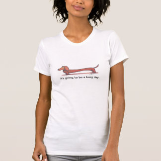 desenho do dachshund camiseta