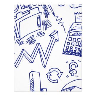Desenho do Doodle do mercado de valores de acção Papel Timbrado