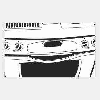 Desenho do fogão adesivo retangular