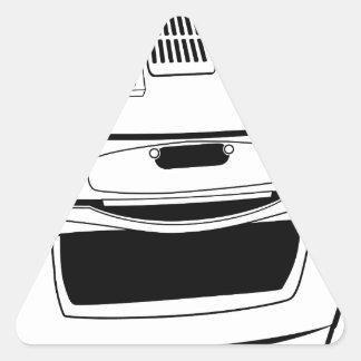 Desenho do fogão adesivo triangular
