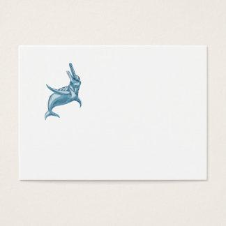 Desenho do golfinho do Rio Amazonas Cartão De Visitas