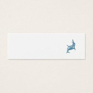 Desenho do golfinho do Rio Amazonas Cartão De Visitas Mini