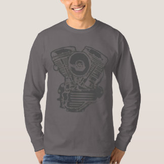 Desenho do motor de Harley Panhead Camiseta