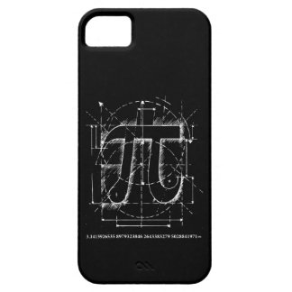 Desenho do número do Pi Capa Barely There Para iPhone 5