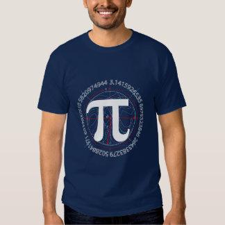 Desenho do número do Pi T-shirts