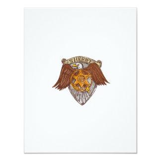 Desenho do protetor de Eagle do americano do Convite 10.79 X 13.97cm