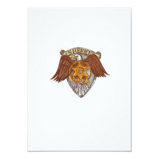 Desenho do protetor de Eagle do americano do Convite 11.30 X 15.87cm