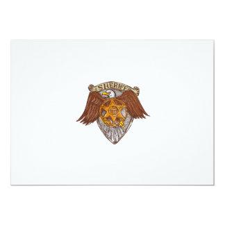 Desenho do protetor de Eagle do americano do Convite 12.7 X 17.78cm