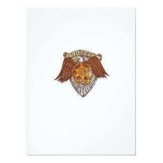 Desenho do protetor de Eagle do americano do Convite 13.97 X 19.05cm