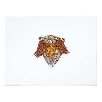 Desenho do protetor de Eagle do americano do Convite 16.51 X 22.22cm