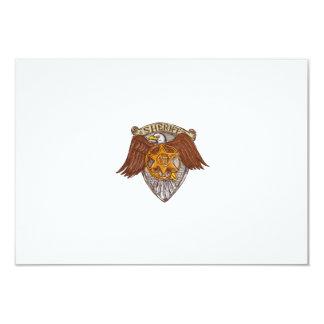 Desenho do protetor de Eagle do americano do Convite 8.89 X 12.7cm