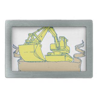 Desenho do rolo da fita da máquina escavadora do