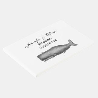 Desenho do século XIX da baleia do vintage Livro De Visitas