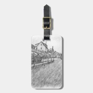 desenho do tráfego de carro tag de bagagem