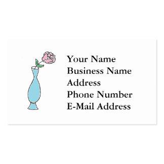 Desenho do vaso da flor em botão cartoes de visitas
