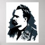 Desenho do vetor do retrato de Friedrich Nietzsche Posters