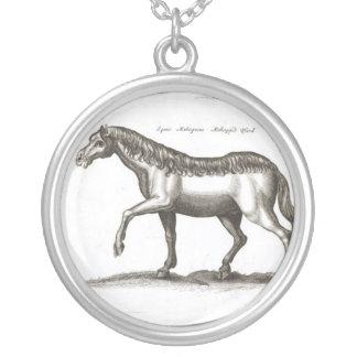 Desenho do vintage de um cavalo bijuterias personalizadas