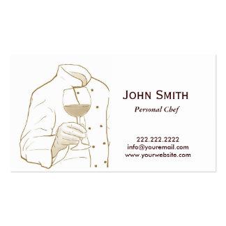 Desenho elegante da mão do cozinheiro chefe cartão de visita